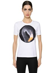 Givenchy Printed Satin Patch On Jersey T Shirt