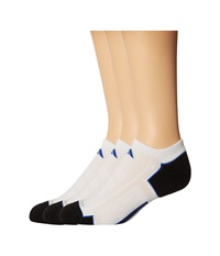 Adidas Climacool Ii 2 Pair No Show Sock White Black Collegiate Royal Men's No Show Socks Shoes Blue