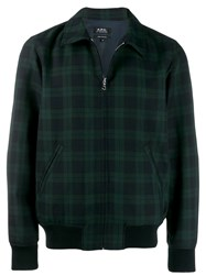 A.P.C. Sutherland Checked Jacket Blue