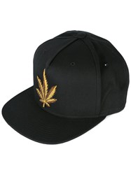 Palm Angels Weed Hat Black