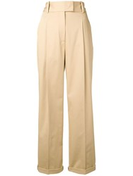 Ermanno Scervino High Waisted Trousers Neutrals