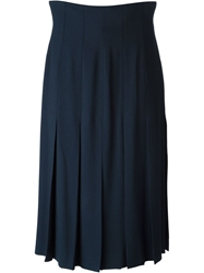 Chanel Vintage Midi Skirt Blue