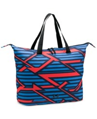 Under Armour Printed On The Run Tote Bag Midnight Navy