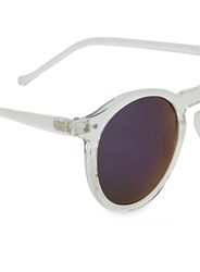 Selected White Homme Black Round Sunglasses