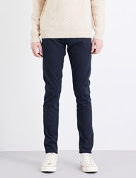 Ag Jeans Stockton Slim Fit Skinny Cotton Trousers Navy