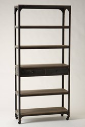 Anthropologie Decker Five Shelf Bookshelf Grey