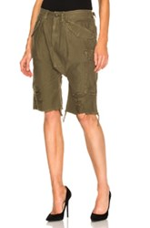 R 13 R13 Harem Cargo Short In Green