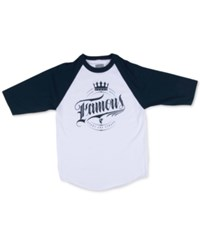 Famous Stars And Straps Famous Stars And Straps Men's Royal Court Raglan Shirt White Navy
