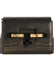 Kara Ross Textured Metallic Shoulder Bag