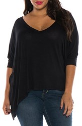 Slink Jeans Plus Size Women's V Neck Tee