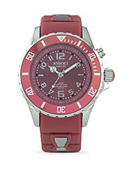 Kyboe Power Stainless Steel And Silicone Strap Watch Dusty Cedar