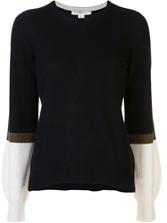 Duffy Contrast Sleeve Cashmere Jumper 60