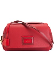 Hogan Flap Zip Cross Body Bag Red