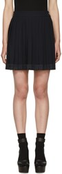 Versace Navy Pleated Miniskirt