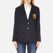 Polo Ralph Lauren Women's 2 Button Blazer Aviator Navy Blue