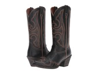 Ariat Round Up D Toe Wingtip Blaze Black Cowboy Boots