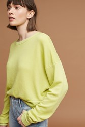 Anthropologie Studio Sweatshirt Lime