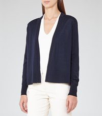 Reiss Rudy Womens Open Front Cardigan In Blue