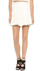 Torn By Ronny Kobo Gwen Ponte Skirt Ivory