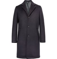 Steven Alan Wool Blend Scuba Jersey Overcoat Blue