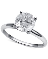 Macy's Diamond Solitaire Engagement Ring 2 Ct. T.W. In 14K White Gold