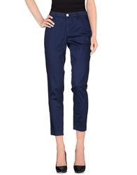 Barba Trousers Casual Trousers Women Dark Blue