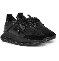 Versace Chain Reaction Panelled Mesh Sneakers Black