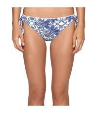 Bleu Rod Beattie Driving Miss Paisley String Tie Side Bottom Navy Women's Swimwear