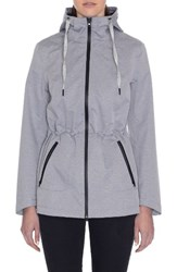 Laundry By Shelli Segal Women's Hooded Active Jacket Melange Heather Grey