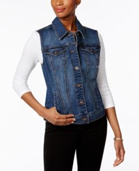 Style And Co Petite Denim Vest Only At Macy's Mosaic