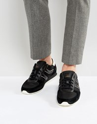 Boss Orange By Hugo Orland Nylon And Suede Trainers In Black Black 001