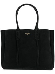 Lanvin Fringed Tote Women Calf Leather One Size Black