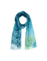 Brian Dales Accessories Oblong Scarves Men Slate Blue