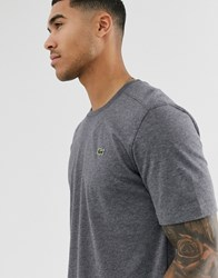 Lacoste Sport Logo T Shirt In Charcoal Marl Grey
