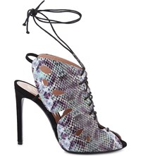 Roland Mouret Papillon Pixel Butterfly Leather Sandals Multicoloured Ayers