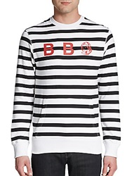 Billionaire Boys Club Bee Bee See Striped Sweater White Black