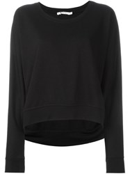 T By Alexander Wang Scoop Neck Jumper Black
