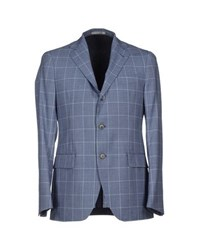 Tombolini Suits And Jackets Blazers Men Slate Blue