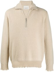 Laneus Zip Neck Sweater Neutrals