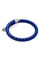 Alex And Ani 'Sun Blaze' Braided Leather Wrap Bracelet Ultramarine