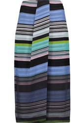 Missoni Draped Wrap Effect Crochet Knit Midi Skirt Multi