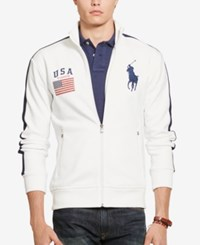 Polo Ralph Lauren Men's Graphic Full Zip Track Jacket White
