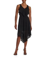Taylor Popover Eyelet Dress Black