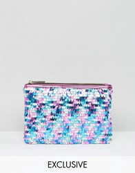 Skinnydip Pinata Sequin Clutch Bag Multi