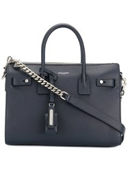 Saint Laurent Sac De Jour Souple Tote Blue