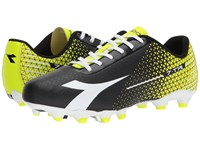 Diadora 7 Tri Mg14 Black White Flourescent Yellow Soccer Shoes