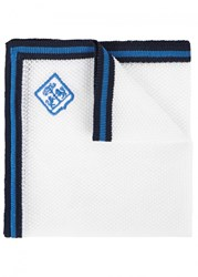 Corneliani White Fine Knit Pocket Square