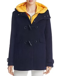 Pendleton Roslyn Toggle Wool 2 In 1 Coat Navy Yellow