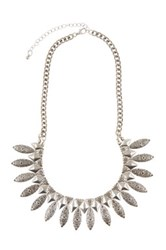 Elise M. Accessories Cara Ethnic Statement Necklace Gray
