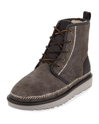 Ugg Harkley Stitch Suede Boots Gray